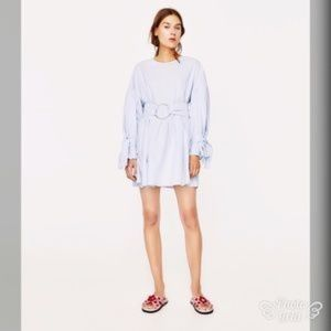 NEW! Zara Light Blue Trafaluc Dress